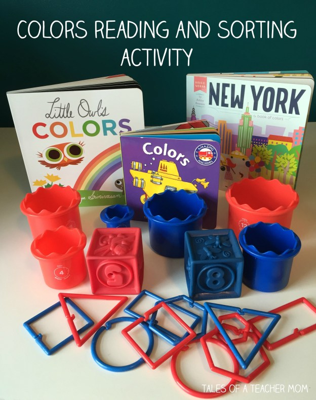 Colors reading and sorting activity