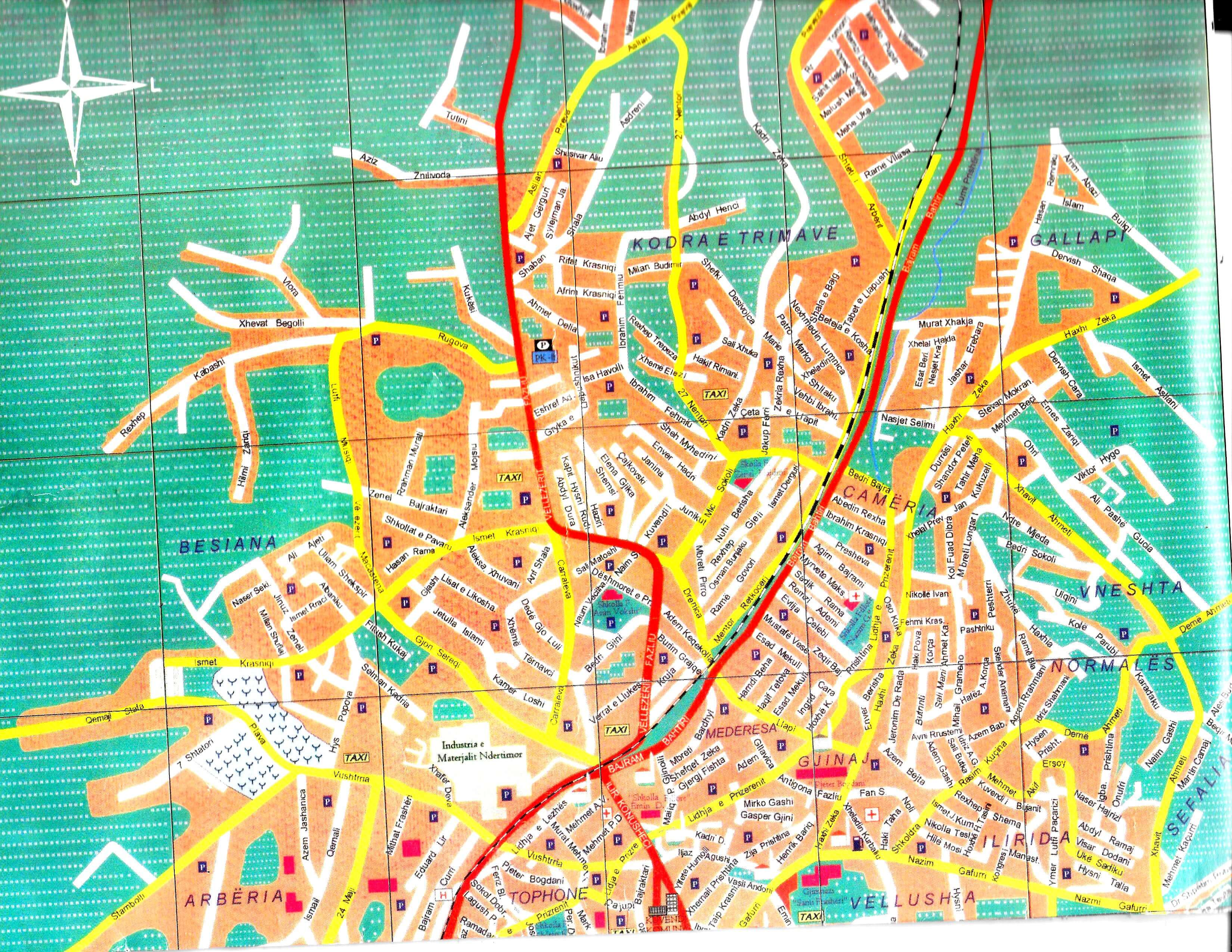 From Tirana With Love And A Dash Of Pristina Talker Of The Town - pristina map