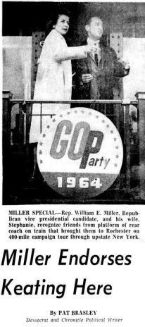Democrat and Chronicle, 25 Oct 1964, Sun, Page 1