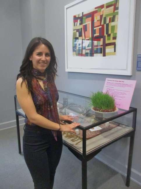 Nikki at exhibit