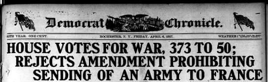 Democrat and Chronicle, 06 Apr 1917, Fri, Page 1