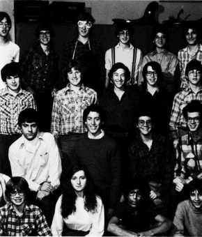 1981 BHS championship chess team (top row, first from left and third from left) Alan Sun and Phil Ghyzel (top row, far right) Dave Kramer (second row, second from right) Dean Tucker [from Crossroads 1981 held at and scanned courtesy Brighton Memorial Library] From Wildcats strike out our undermanned Barons