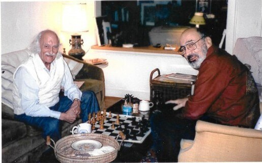 "Eugene Kramer with his friend Isaac, not the character from the 1953 ""Isaac."" Sometime in the early 2000s."