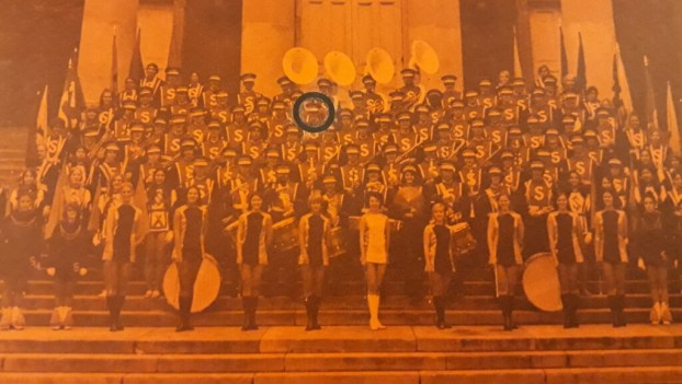 SU Marching Band 1971, in orange of course (your humble author is circled)