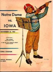 Thousands of these official game programs were printed, but not sold (Courtesy Jay Petersen)