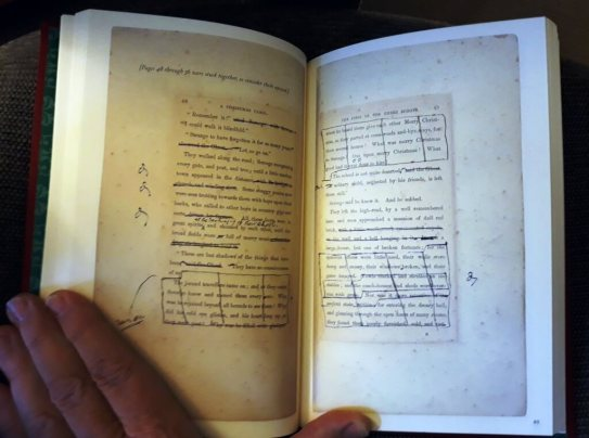 Dickens's prompt book for A Christmas Carol