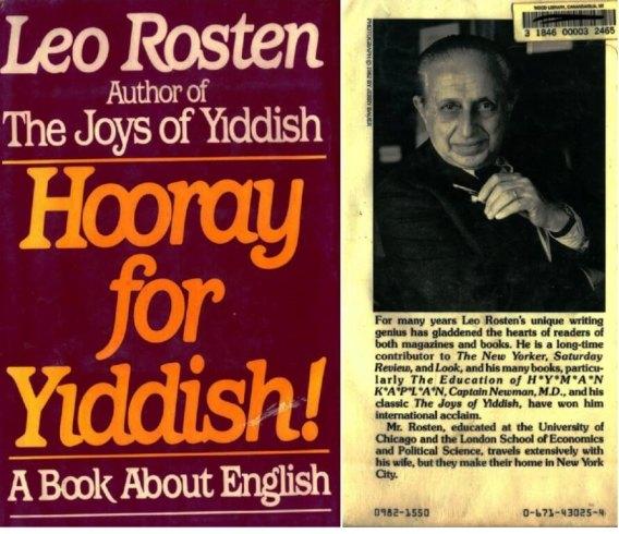Leo Rosten, Hooray for Yiddish, 1982