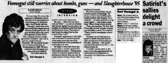 (left) Democrat and Chronicle, 5/3/95 (right) 5/5/95