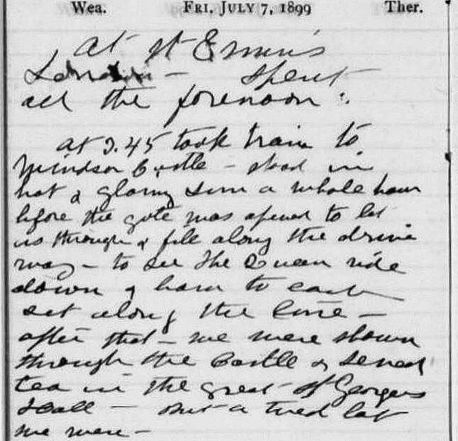 Susan B. Anthony's Diary Page for July 7, 1899