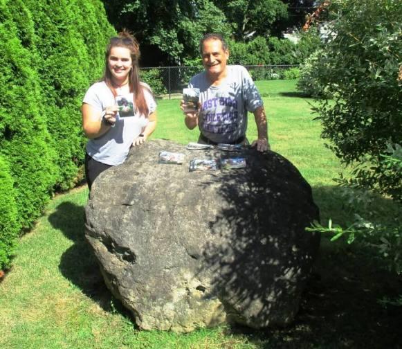 Boulder at 460 Bonnie Brae. Samantha Zimmerman (left) and David Kramer [Photo: Kaitlyn Zimmerman] 8/21/19