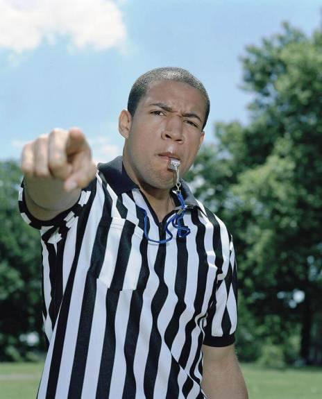 Referee Blowing Whistle by Pascal Preti (Getty Images)
