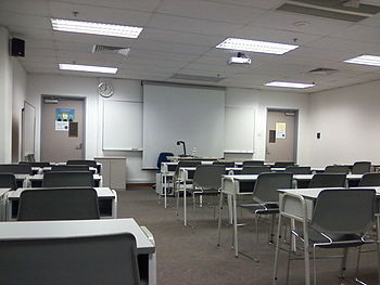 English: Classroom in SIM University.