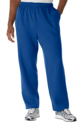 mens big and tall open bottom workout pants