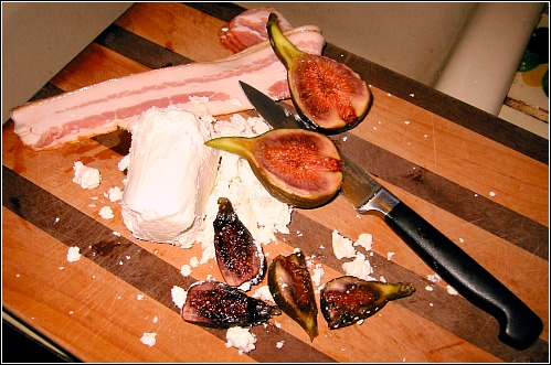 goat cheese figs bacon