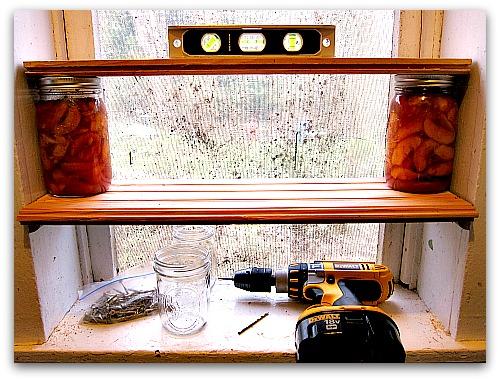 canning shelves DIY