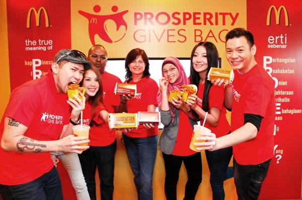 Radio announcers, Phat Fabes (FlyFM), Leya (HotFM) and Nicholas Ong (OneFM) together with celebrities Julie Woon, Dennis Lau and Chelsia Ng will all be at McDonald's Kota Damansara Drive-Thru on 19th and 20th January from 11:00am onwards to serve Malaysians as volunteers