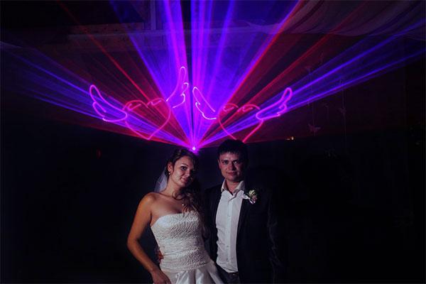 Лазерне 3D шоу на весілля