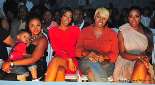 Phaedra, Porsha, Nene, and Kenya front row at the Runway Red Fashion Show