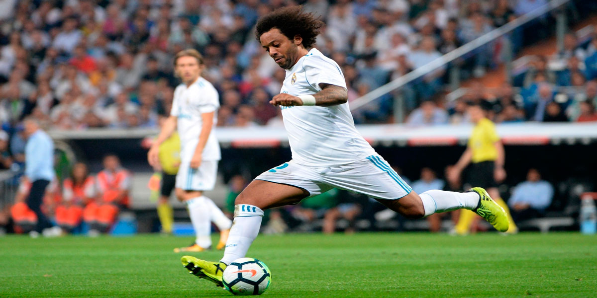 Marcelo alcanza su décima temporada convirtiendo para el Madrid
