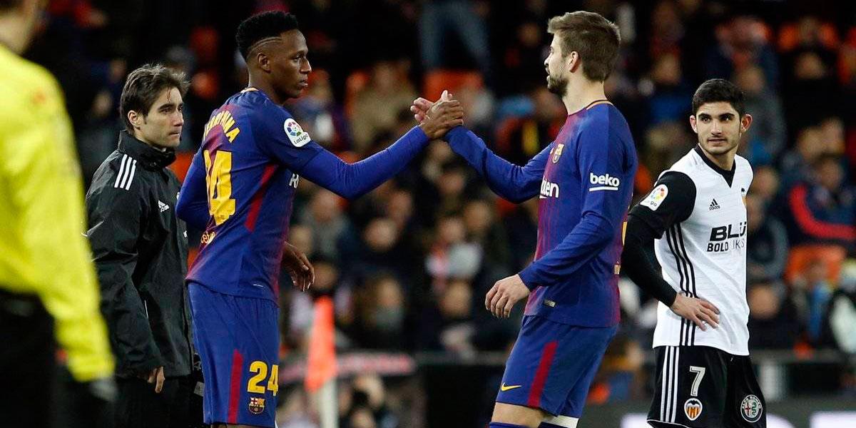 La chance del debut de Mina en el Barça es inminente