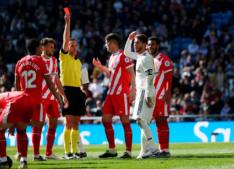 Sergio Ramos amplía su récord de expulsiones