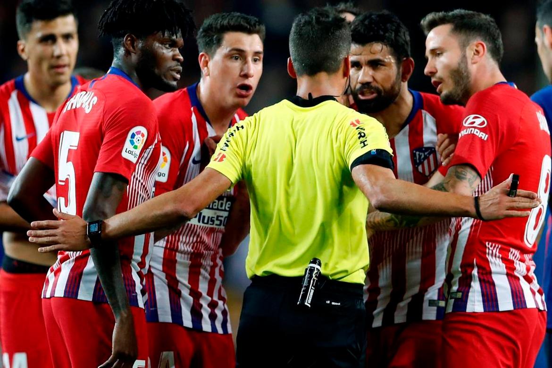 Atlético de Madrid protestará por la expulsión de Diego Costa