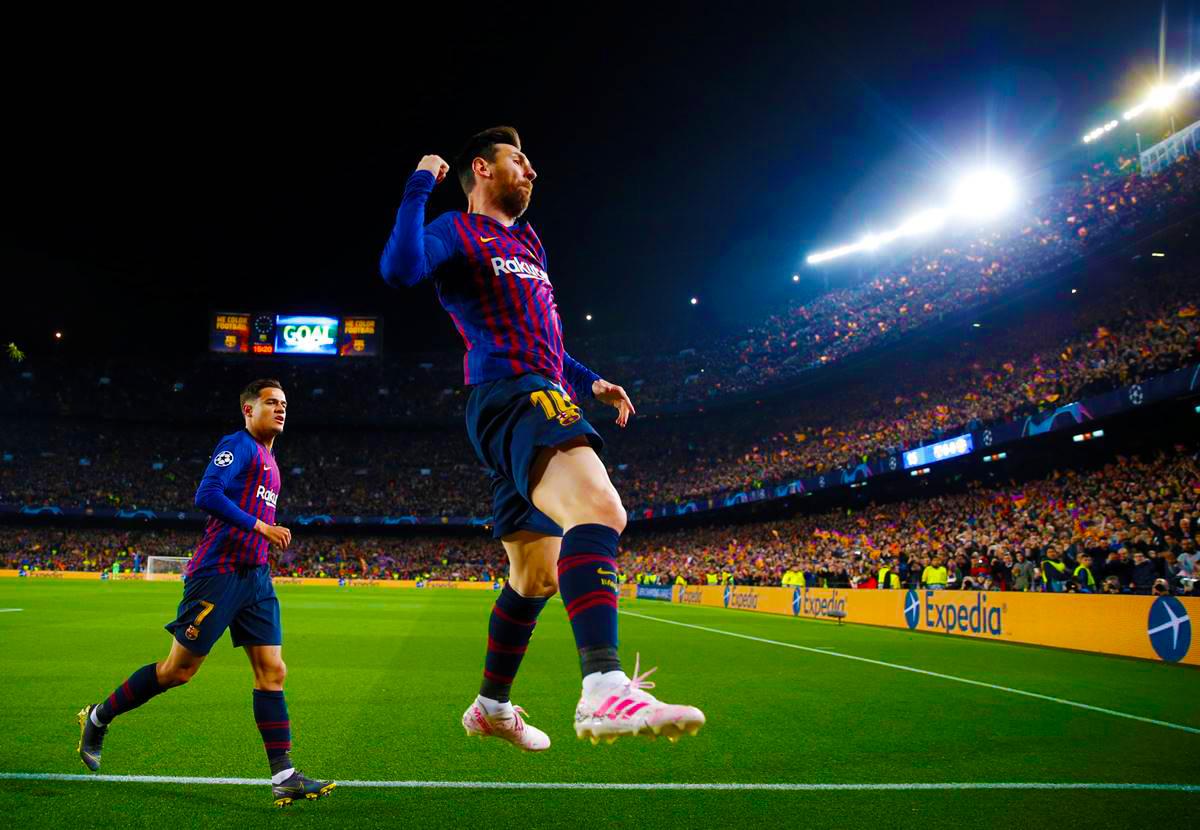 Barcelona goleó al United y está en semifinales