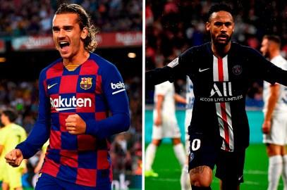 En Francia hablan de un trueque entre Neymar y Griezmann