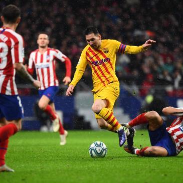 Messi marca por primera vez en el Wanda Metropolitano