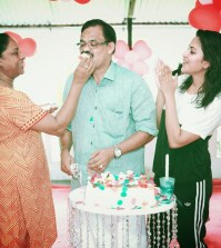 Amala Paul Dad's bday 3