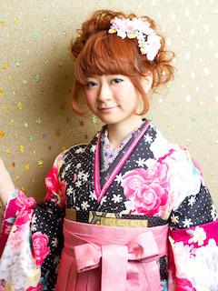 卒業式の袴に合うロング女性の髪型