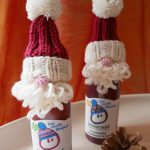 Mini-Nikolaus-Mützen für Smoothies