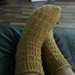 """Socken nach der """"Mystery-Sockenanleitung, gestrickt von Jana Nellesen"""