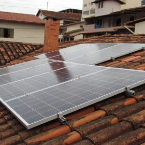 03 - Arranjo fotovoltaico 1,855kWp - 7 x 265Wp Sun Edison