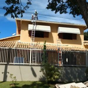 Instalação no telhado superior