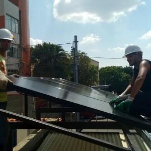 03 - Instalação dos módulos fotovoltaicos - 10 x 2,70kWp Sun Edison