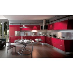 Small Crop Of Red Modern Kitchens
