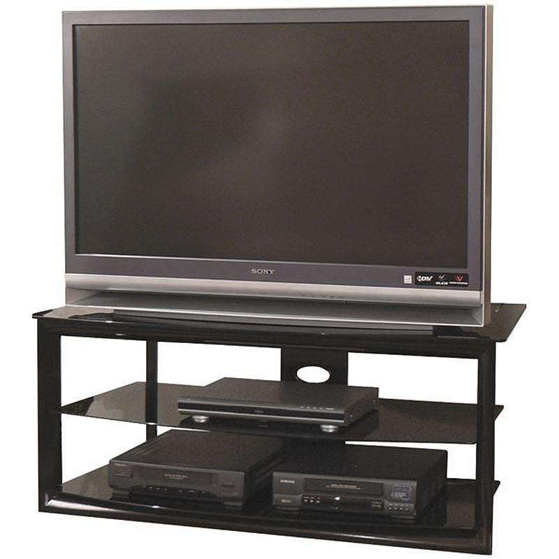 Tech Craft Bernini Black Glass Corner Tv Stand For 38 48 Inch With Most  Recently Released Inch Wide Tv Stand84