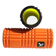 The Grid foam roller by Trigger Point Therapy. Self treatment for plantar fasciitis.