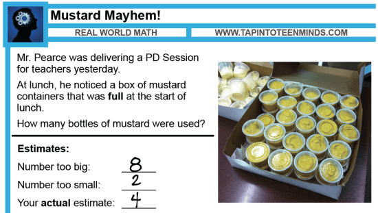 Mustard Mayhem 3 Act Math Task Solutions
