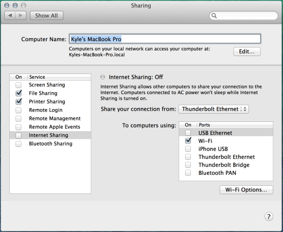 Step 3 - Access Sharing Settings and Configure Sharing Settings