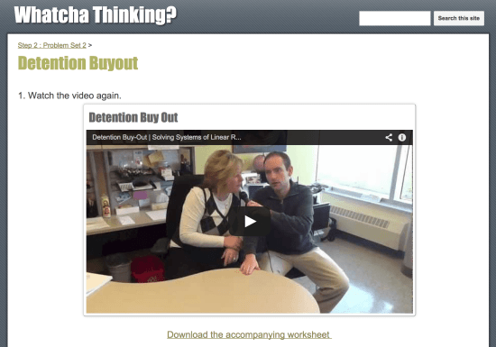 Whatcha Thinking? - Detention Buy-Out Resources