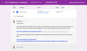 Descriptive Feedback Made Easy in Google Classroom