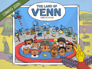 The Land of Venn - Geometric Defense iOS App Coming November
