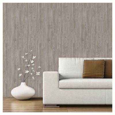Devine Color Textured Driftwood Peel & Stick Wallpaper - Mirage : Target