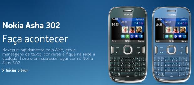 asha 302 Nokia Asha 302 já é visto no site da Nokia Brasil