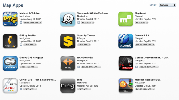 Screen Shot 2012 09 28 at 2.20.24 PM 580x326 Depois de pedido de desculpas, Apple facilita a vida de quem quer mapas alternativos no iOS