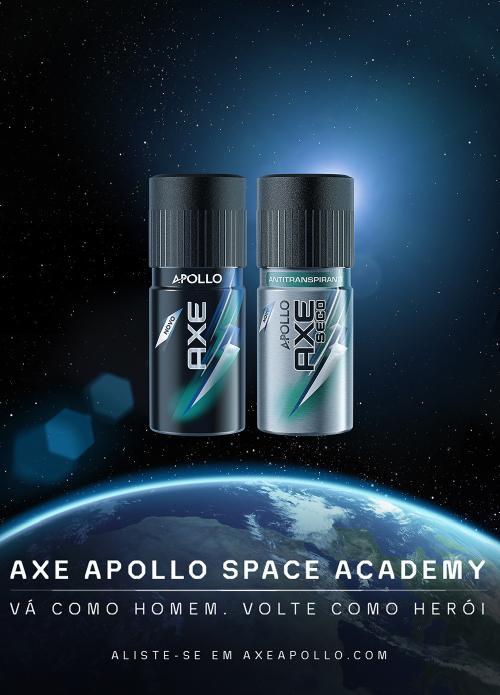 AXE Apollo b Quer ir para o espaço? A AXE te leva para lá, com o Axe Apollo! É sério!