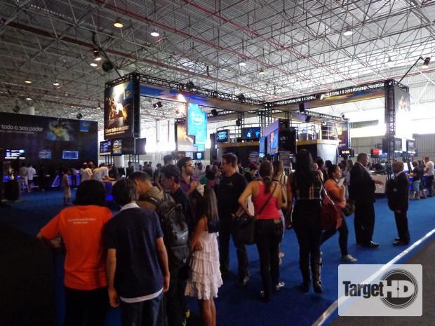 DSC00440 Intel apresentou o maior stand da Campus Party Brasil 2013. E não fez feio!