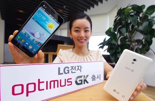 lg optimus gk LG Optimus GK, mais um smartphone com tela de 5 polegadas é lançado no mercado coreano